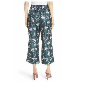 Rebecca Taylor Emilia Floral Print Wide Leg Pants